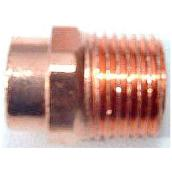 "Straight 2"" Copper Threaded to Solder Spigot Adapter"