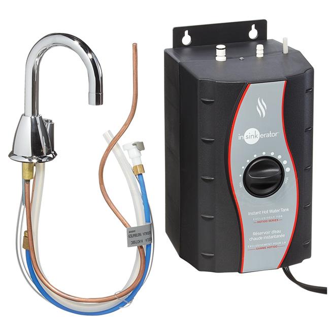 Distributrice d'eau chaude, 2/3 gallon, chrome