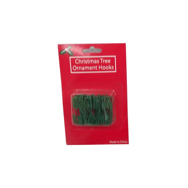 Ornament Hooks - Green - 100-Pack