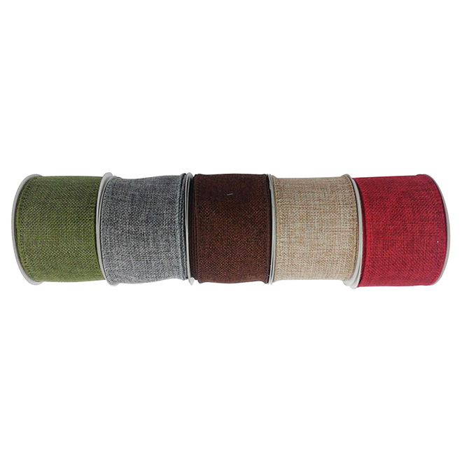Decorative Ribbon - 15' - Red/Sage