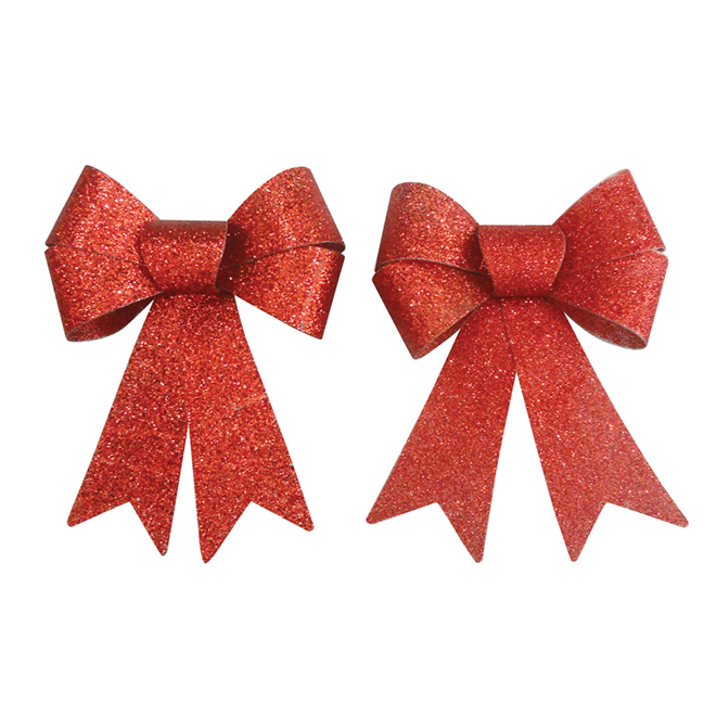 """Decorative Bow - 4"""" - Red - 2-Pack"""