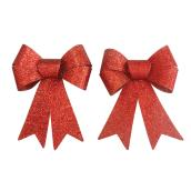 "Decorative Bow - 4"" - Red - 2-Pack"