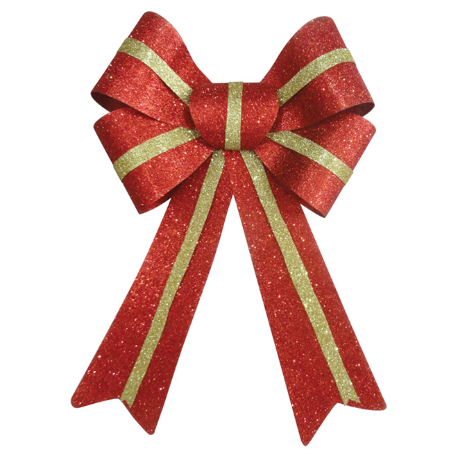 """Decorative Bow - 8.5"""" x 11"""" - Red/Gold"""
