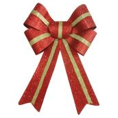 "Decorative Bow - 8.5"" x 11"" - Red/Gold"