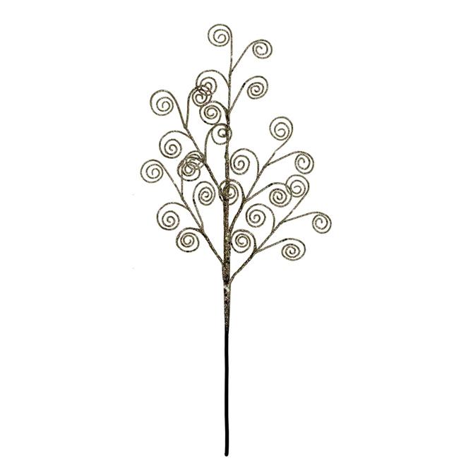 Pic floral brillant, 18 po, doré