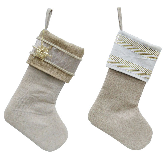 christmas stockings 19 goldwhite assorted - Gold Christmas Stocking