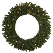 """Battery-Operated Lighted Wreath - 150 Lights - 48"""""""