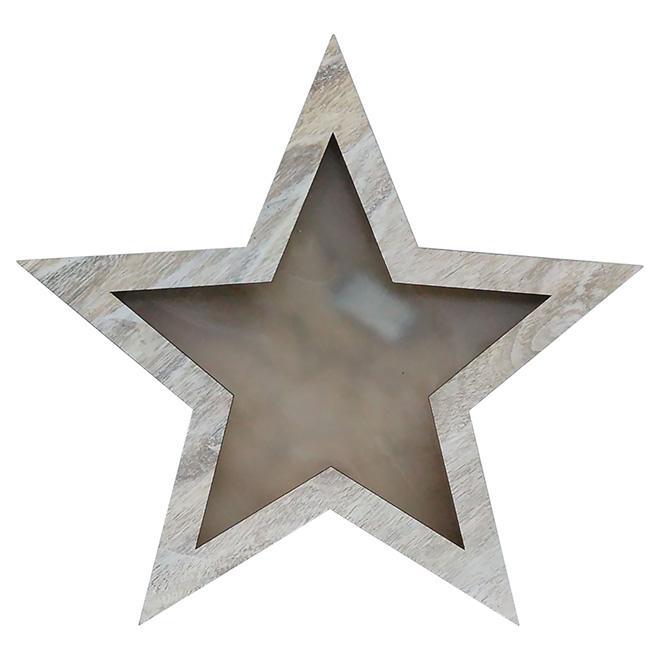 """Étoile décorative illuminée à piles, brun, 19 3/4"""""""
