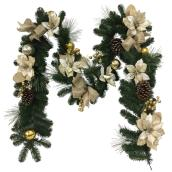 Decorated Garland - Plastic - 9