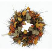 Harvest Burlap Wreath - 24''