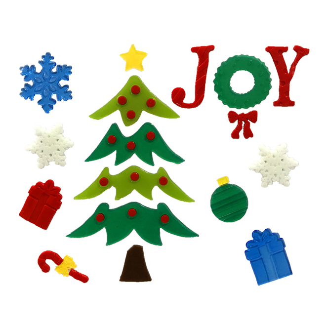 Christmas Window Stickers - 17 Pieces