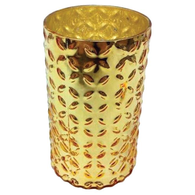 "Decorative Glass Vase - 5"" x 8 3/4"" - Gold"