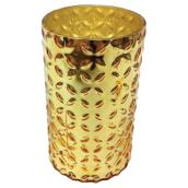 "Decorative Glass Vase - 5"" x 8 3/4"" - Gold"