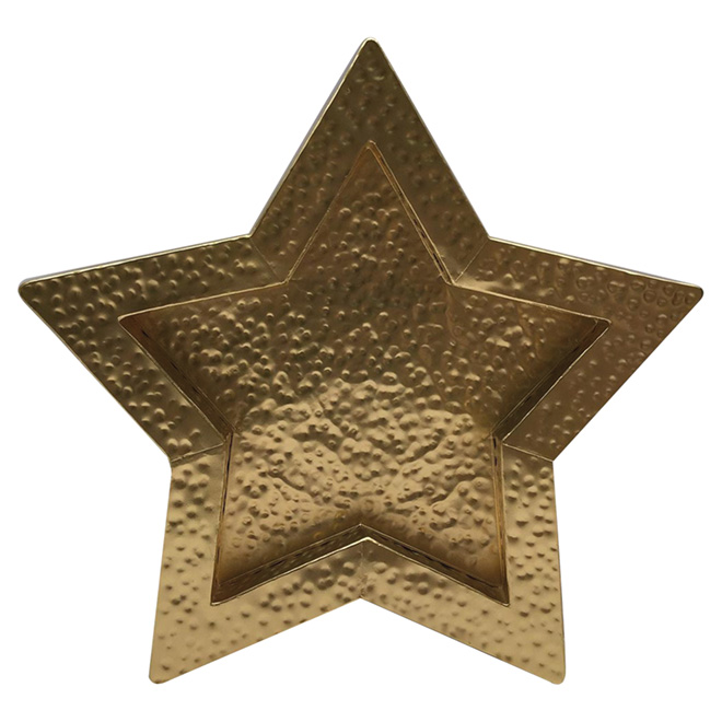 "Metal Decorative Star - 17 1/4"" x 17 1/4"" x 1 5/8"" - Gold"