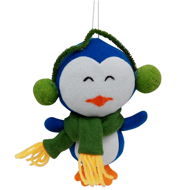 Ornaments - Penguins - Polyester - Multicolor