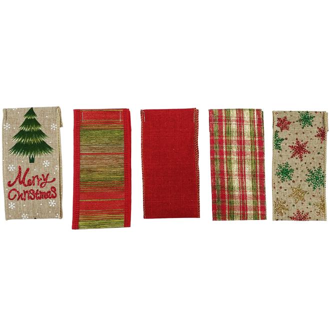 Rubans décoratifs, 5 modèles, nylon