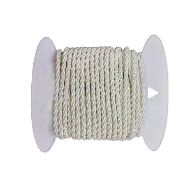 Corde de jute, 4 mm x 24', blanc
