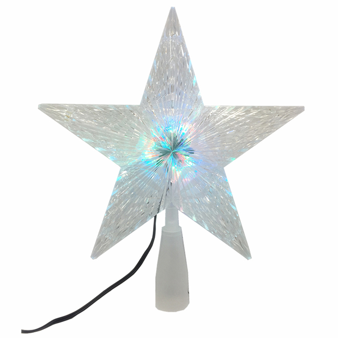 "Illuminated Tree Topper - Star - 9.87"" - White"