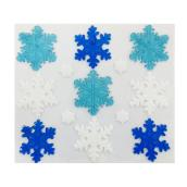 Snowflake Window Stickers - Blue & White - 13 Pieces