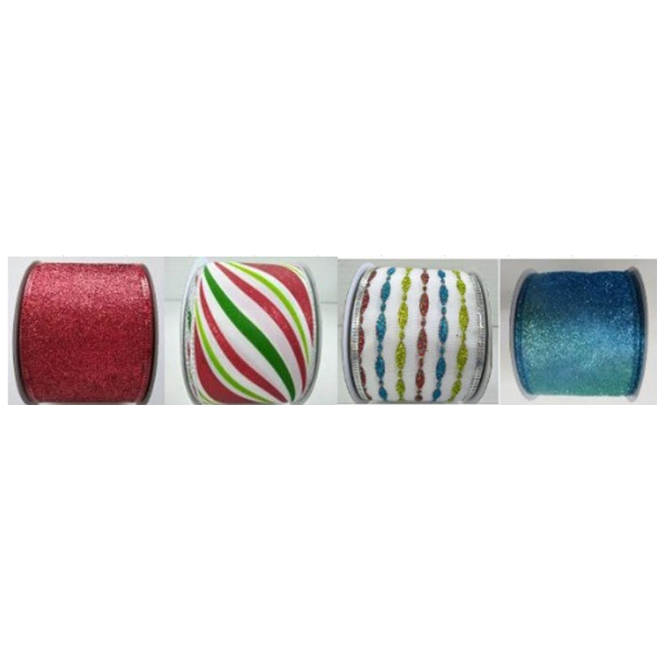 "Colourful Polyester Ribbon - 2.5"" x 30' - Assorted Colours"