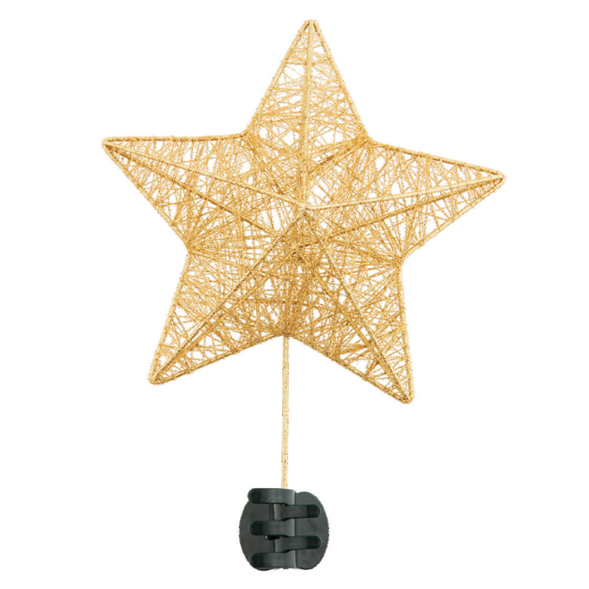 "Star Tree Topper - Metal - 10 1/4"" X 3 1/4"" X 14 1/4"" - Gold"