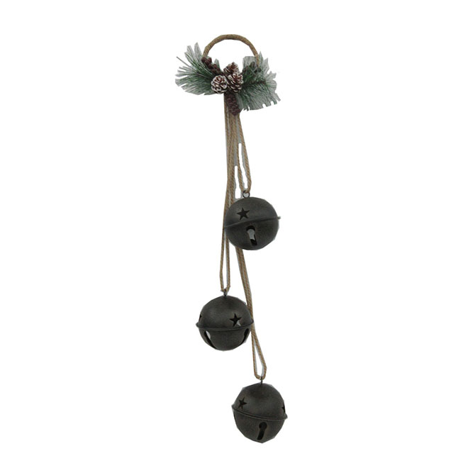 Rustic Triple Bell - Metal - Brown
