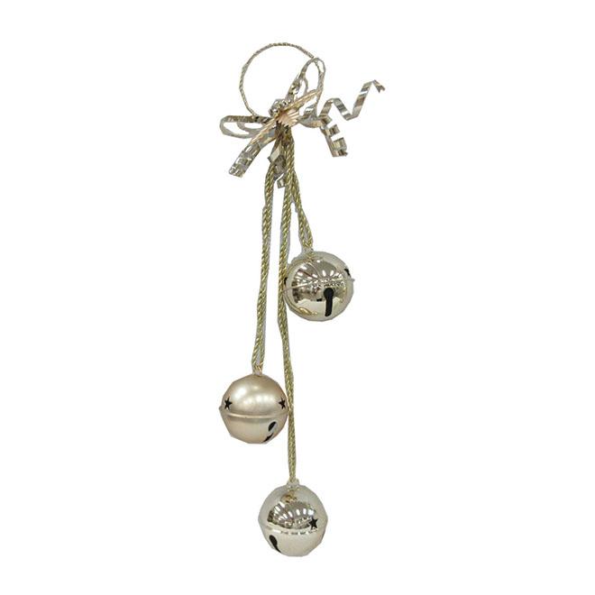 Decorative Triple Bell - Metal - Gold