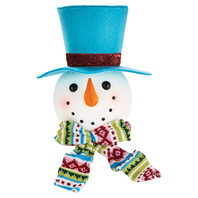 """Snowman with Hat - 13.7"""" - Foam and Fabric"""