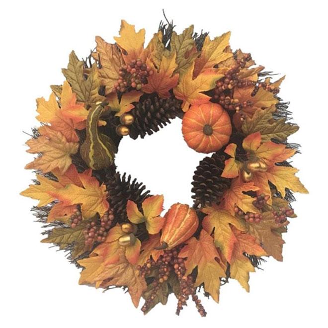 Harvest Fall and Halloween Wreath - 22''