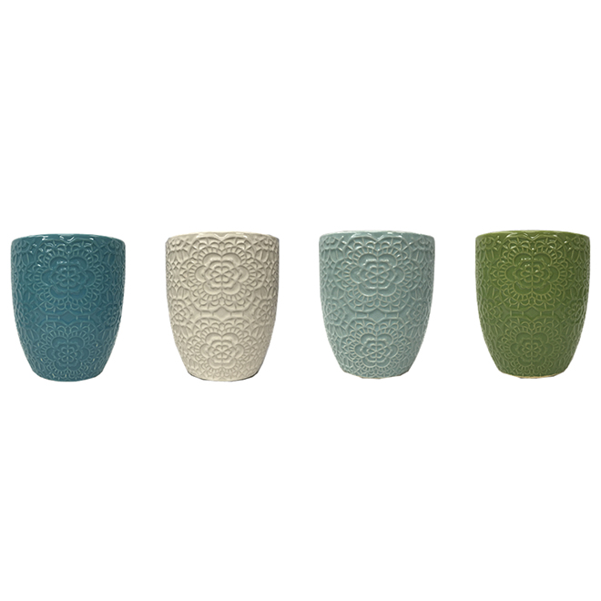 Assorted Flower Pot - Ceramic - 6.25''