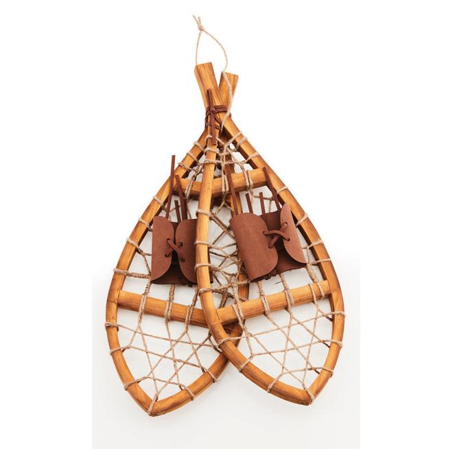 Decorative Snowshoes - Brown Wood - 21.5''