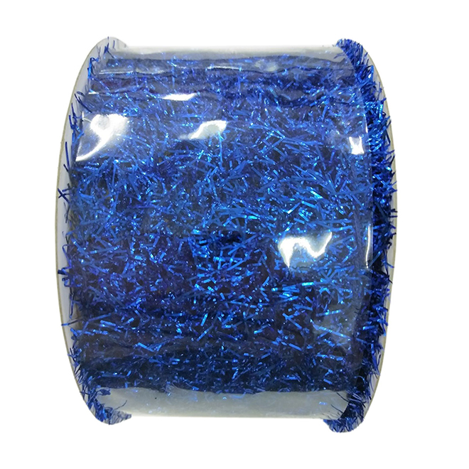 Creative Design Polyester Garland-Style Ribbon - .02-in x 15-ft - Blue