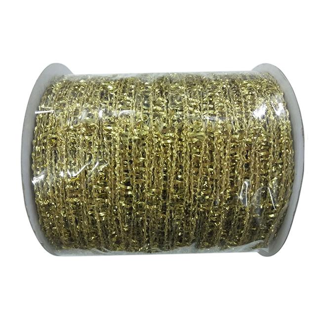 Decorative Polyester Mesh - Gold - 4'' x 30'