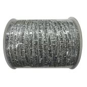 Decorative Polyester Mesh - Silver - 4'' x 30'