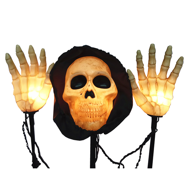 Haunted Living Lighted Scary Skeleton Pathway Markers - 18-in - Set of 3