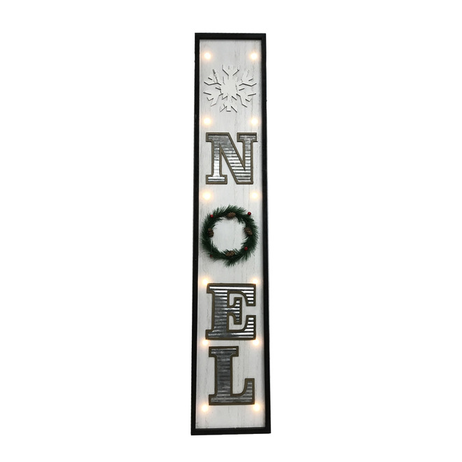 Holiday Living Lighted Christmas Wall Decor - Snow Angel - 42-in - White and Silver