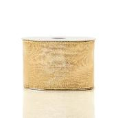 Holiday Living Polyester Ribbon - Chill Factor - 2.5-in x 10 Yards - Gold