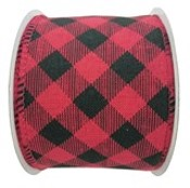 Holiday Living Polyester Plaid Ribbon - Chill Factor - 2.5-in x 10 Yards - Red and Black