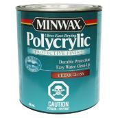 Fini protecteur à base d'eau Polycrylic, 946 ml, lustré