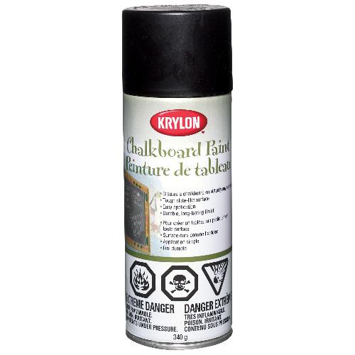 Peinture à tableau, Krylon, tout usage, latex, 340 g, noir