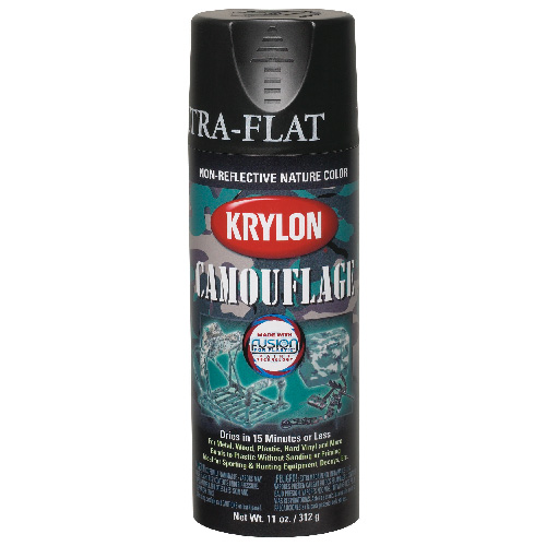 Krylon - Enamel Spray Int-Ext Paint - 340 g - Camo Black