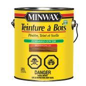 Teinture et scellant tout-en-un pour bois d'intérieur Minwax, à base d'huile, provincial, faible COV, 3,78 L