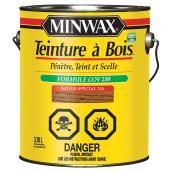 Teinture et scellant tout-en-un pour bois d'intérieur Minwax, à base d'huile, noyer spécial, faible COV, 3,78 L