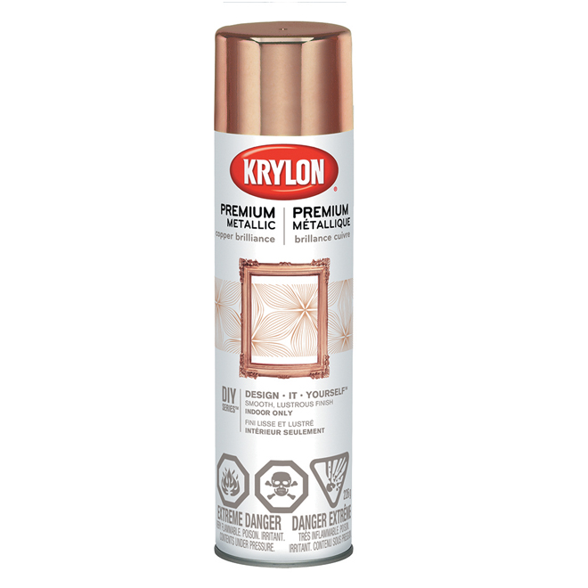 Krylon Premium Metallic Spray Paint - 226 g - Copper Brilliance