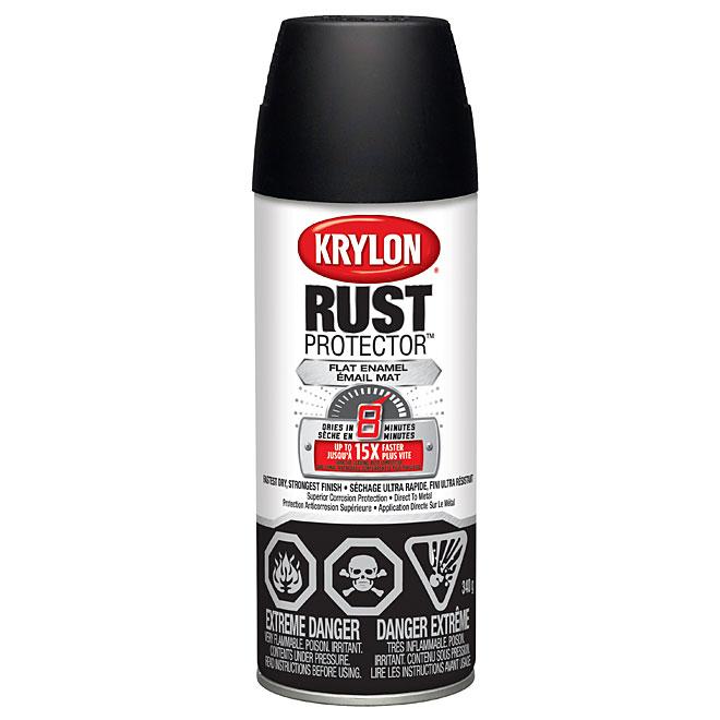 Peinture-émail antirouille en aérosol Rust Protector(MC) Krylon, 340 g, noir mat