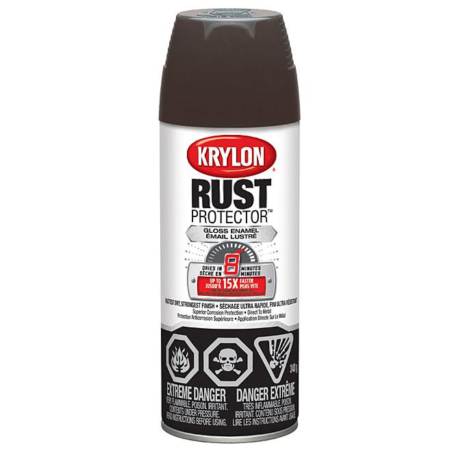 Peinture-émail antirouille en aérosol Rust Protector(MC) Krylon, 340 g, brun cuir, lustré