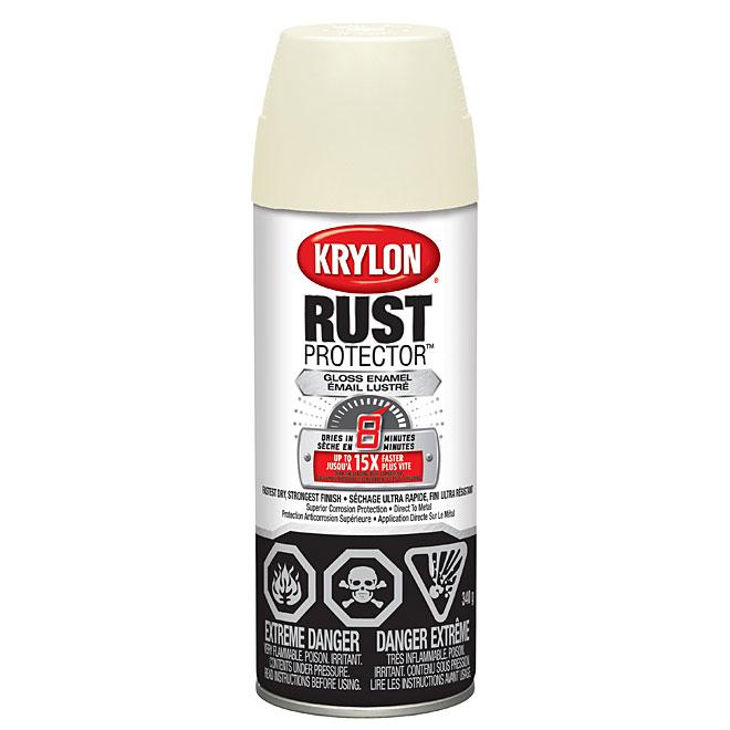 Krylon Rust Protector(TM) - Rust Preventative Enamel - Aerosol - 340 g - Gloss Ivory