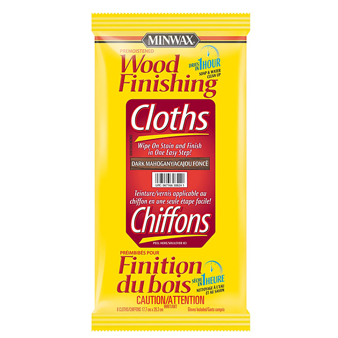 Wood Finish Cloths - Dark Mahogany