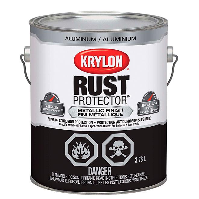 Krylon - Rust Protector - Metallic Finish Paint - 3.78 L - Aluminum