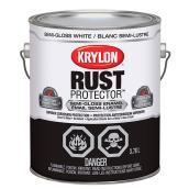 Krylon Rust Protector - Rust Preventative Enamel - 3.78 L - Semi-Gloss White